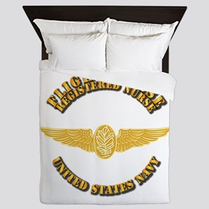 Navy - Flight Nurse - Rn Queen Duvet